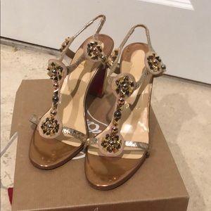 Louboutin nude sandal